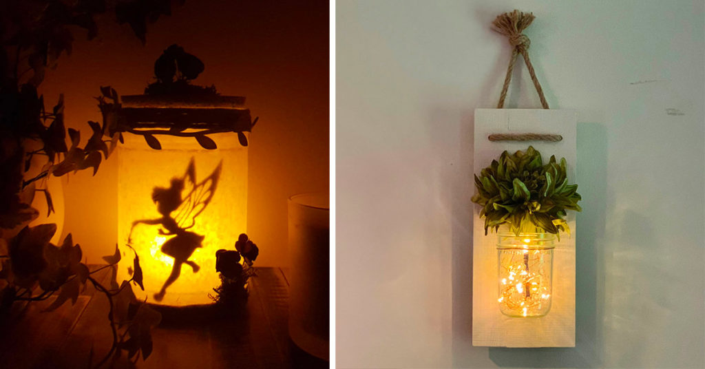 Riccilo creativo di barattoli in vetro per fare lanterne