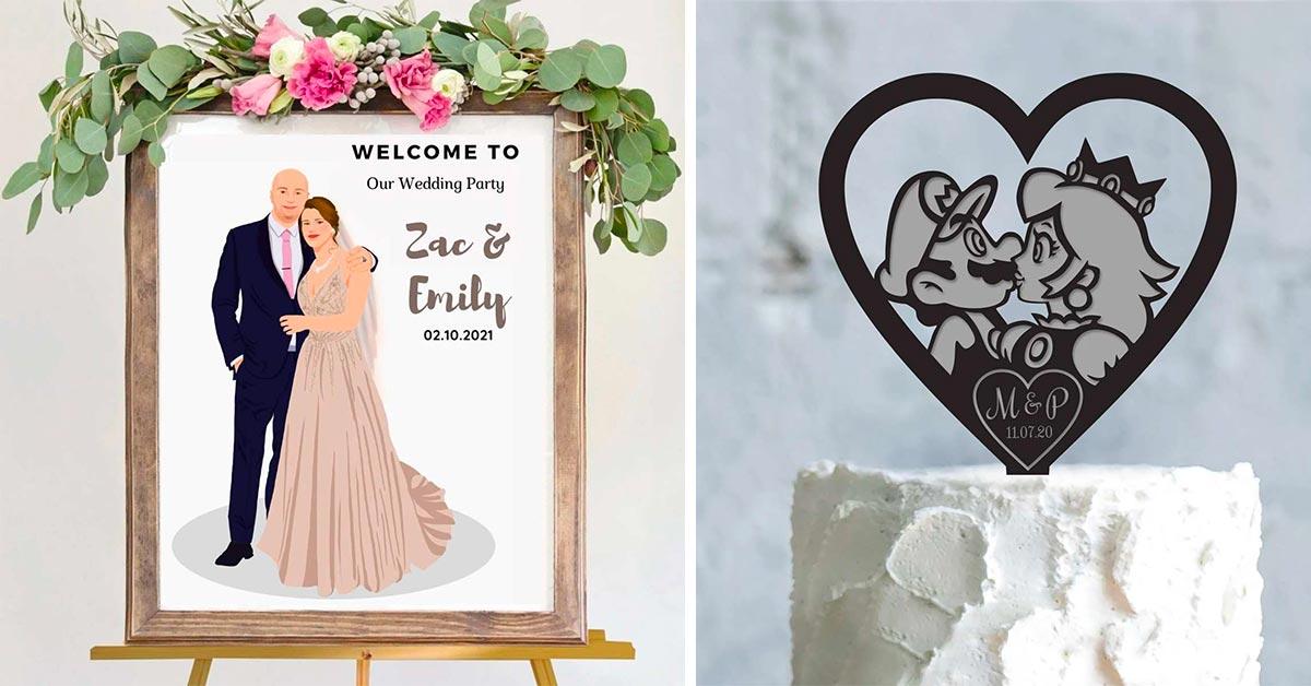 decorazioni matrimonio tema cartoon
