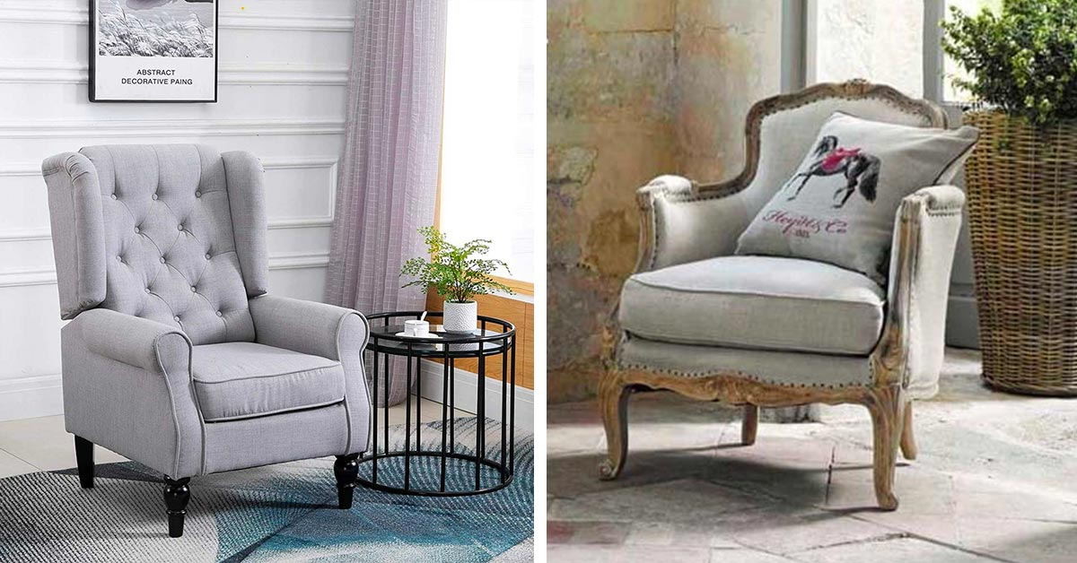 Poltrone shabby e country chic