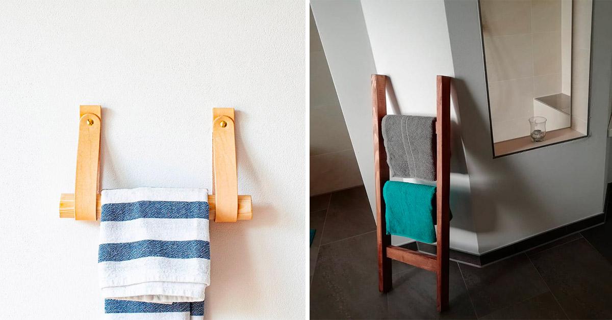 esempi di porta asciugamani fai da te