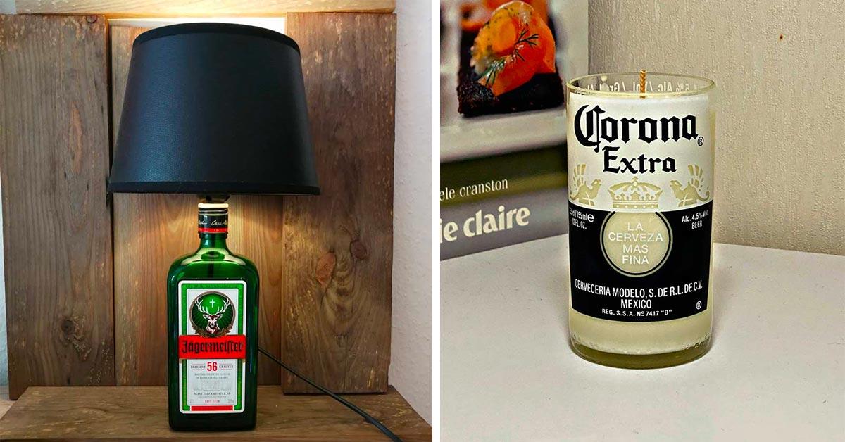 Idee per riciclare bottiglie in vetro
