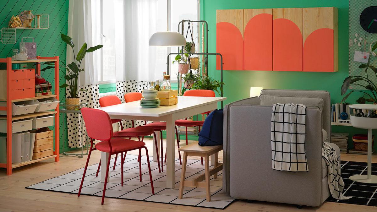 sedie colorate e stilose per la sala da pranzo