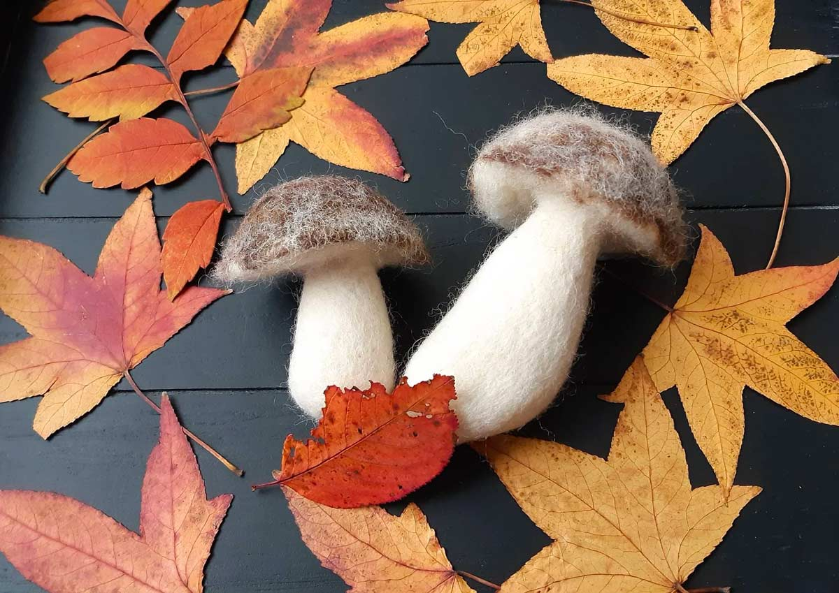 Decorare casa per l'autunno con i funghi