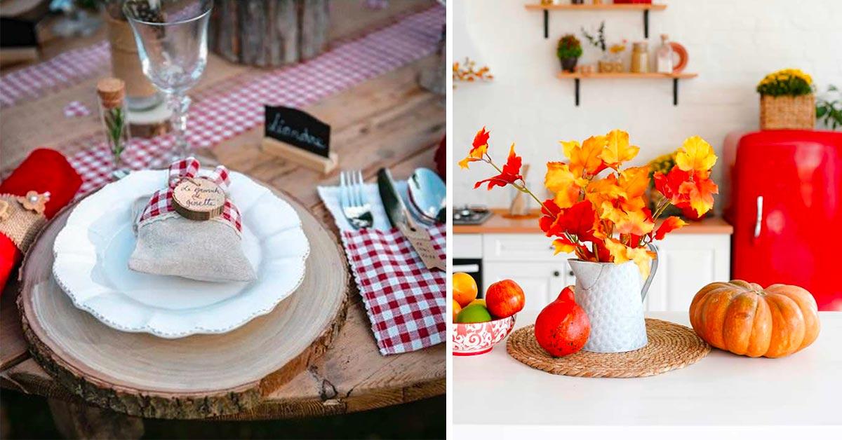 Apparecchiare la tavola in autunnoc on sottobicchieri e sottopiatti ispirati alla natura