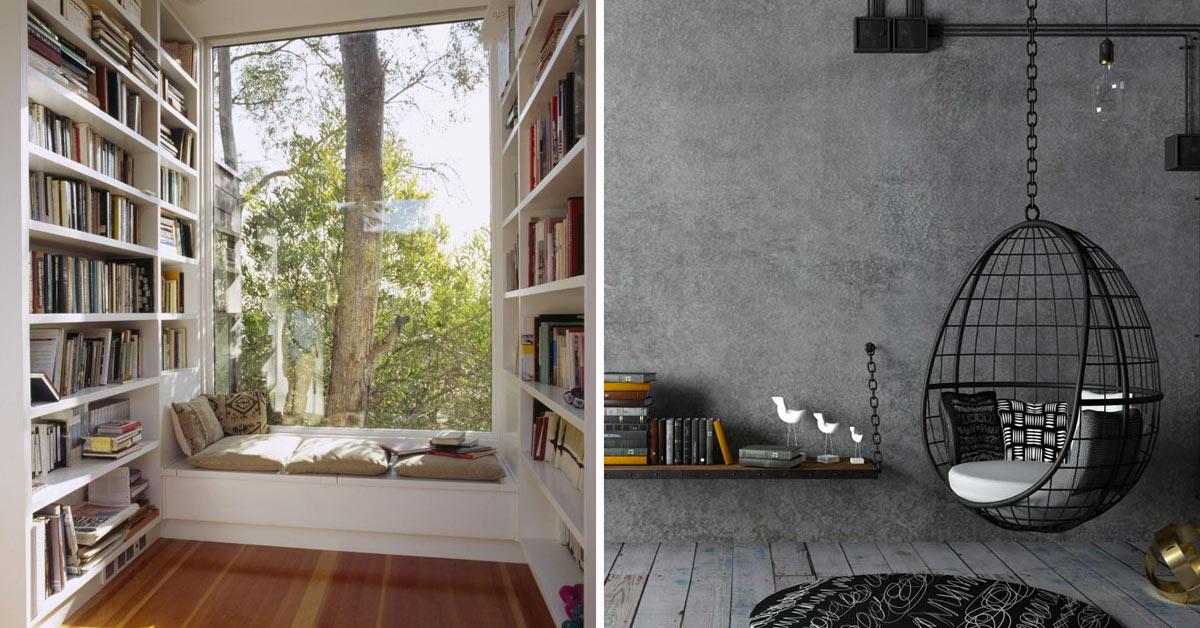 Idee angolo lettura in casa.