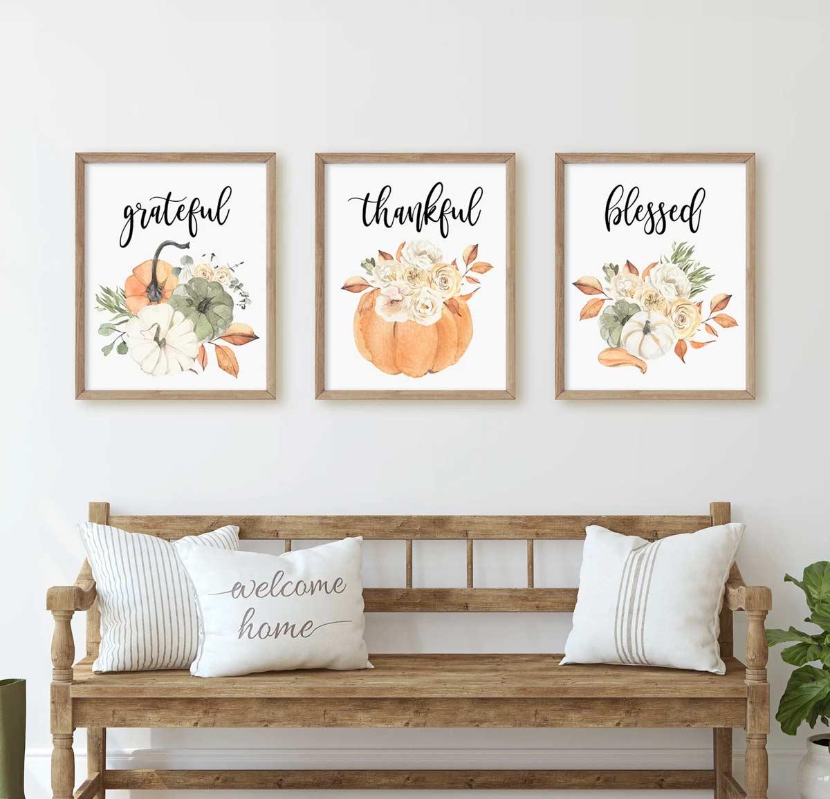 come decorare casa con le scritte in autunno