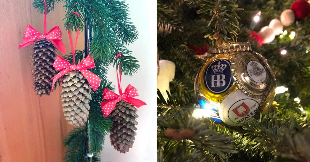 Riciclo per decorare l'albero di Natale.