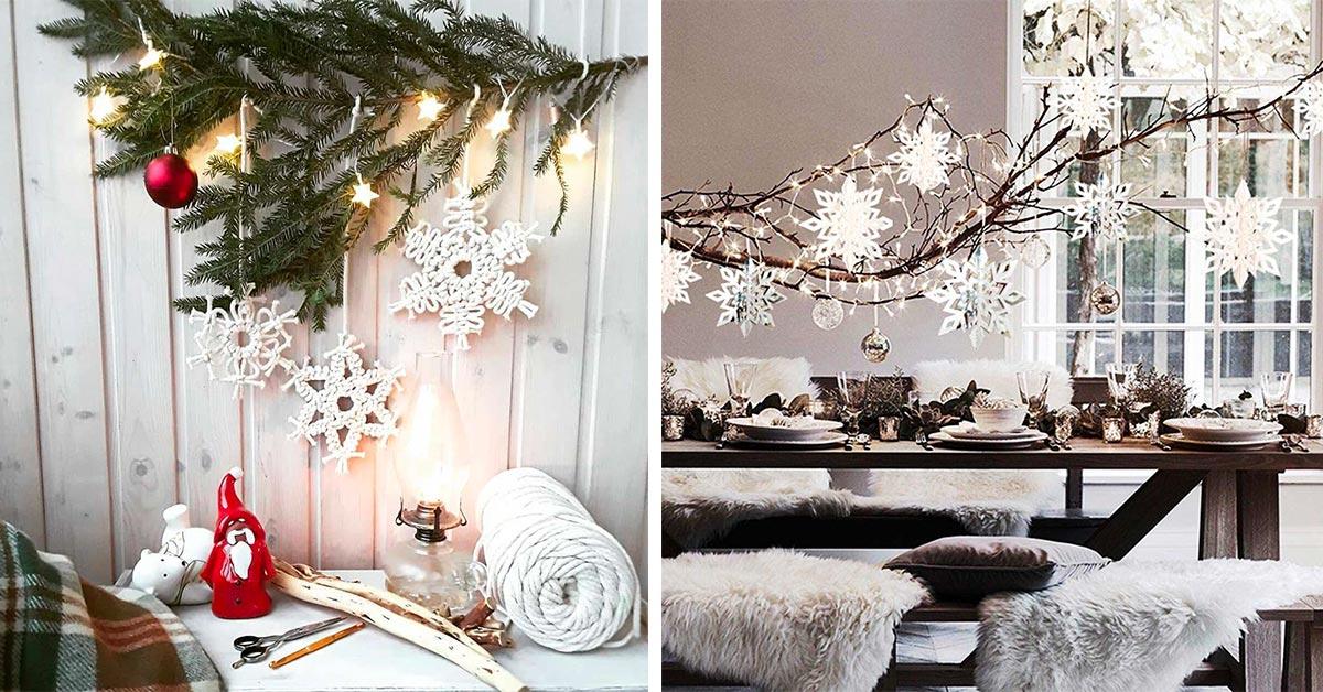 Decorazioni Natale fiocco di neve